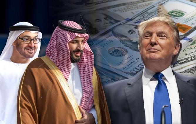 تمويل ترامب من السعودية والامارات